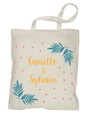 Tote bag mariage - Tropical